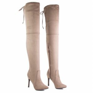 🆕NWT Beverly55 Taupe (Grey) Over-the-Knee Boots